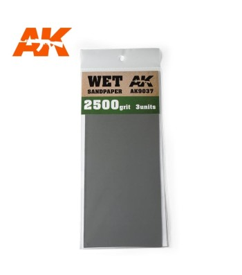 AK9037 Wet Sandpaper 2500 Grit. 3 units