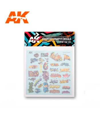 AK9091 ASSORTED GRAFFITI DECAL Set2