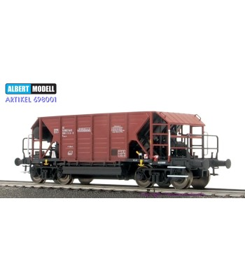Bulgarian BDZ hopper car, Faccpp, brown, epoch V