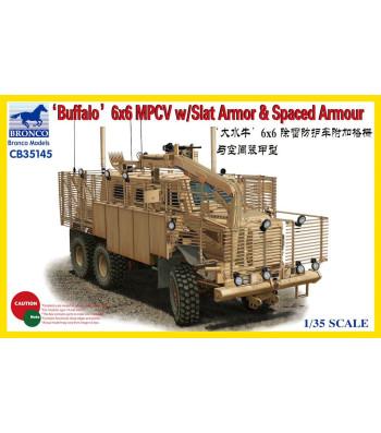 1:35 'BUFFALO' 6x6 MPCV with Slat Armor & Spaced Armor Versio