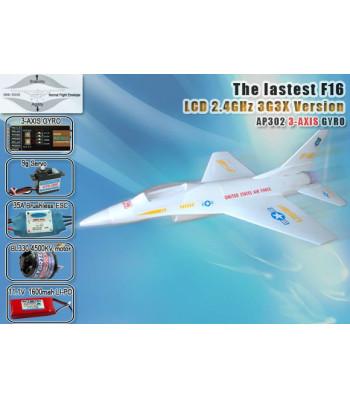 F-16 RC Airplane Model 2.4GHz 5CH 3G3X with LCD Screen Transmitter RTF (AP05-X1)