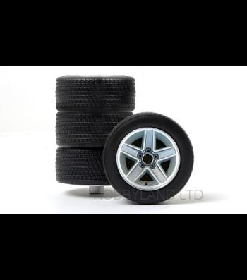 Accessories wheels set - tuning alloy wheels (4x), silver