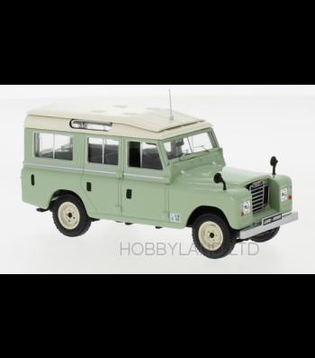 Land Rover series II 109 station wagon, light green, 1958