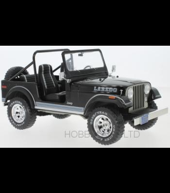Jeep CJ-7 Laredo, black 1980