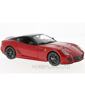 FERRARI 599 GTO RED W/BLACK TOP 1/24 DIECAST MODEL CAR BY BBURAGO ...