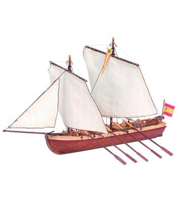 1:50 SANTISIMA TRINIDAD CAPTAIN LONGBOAT - Wooden Model Ship Kit