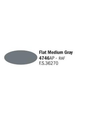 Flat Medium Gray - Acrylic Paint (20 ml)