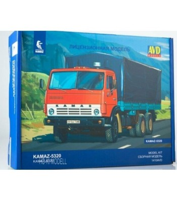 KAMAZ-5320 flatbed with tent - Die-cast Model Kit