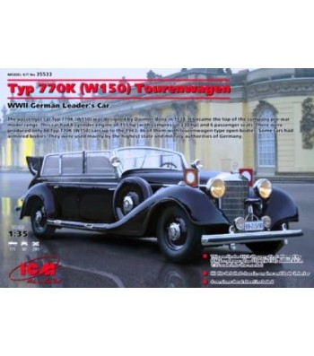 1:35 Mercedes-Benz Typ 770K (W150) Tourenwagen WWII German Leader's Car