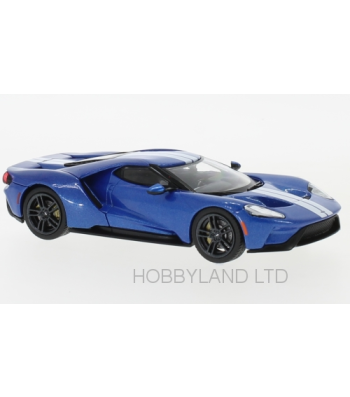 Ford GT year 2017 blue / white