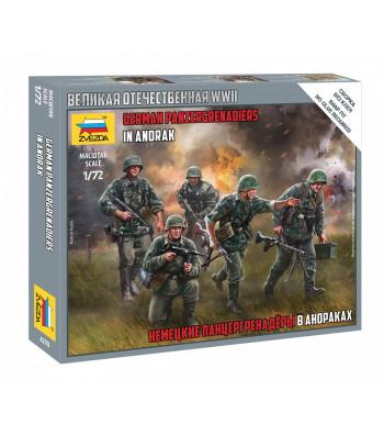 1:72 GERMAN PANZERGRENADIERS IN ANORAK - snap-fit