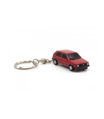 KEY CHAIN VW GOLF 2 GTI RED