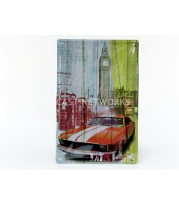 METAL PLATE - FORD MUSTANG LONDON (21 X 30 cm)
