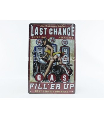 METAL PLATE - LAST CHANCE GAS FILL ER UIP (20 x 30 cm)
