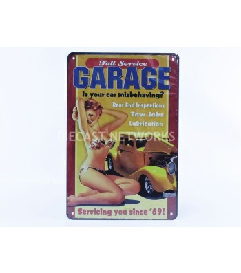 METAL PLATE - FULL SERVIE GARAGE - IS YOUR MISBEHAVING (20 x 30 cm)