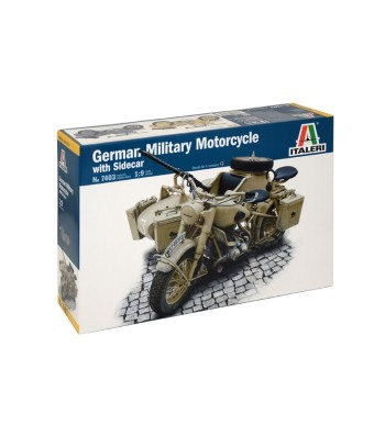 1:9 German Milit.Motorcycle with Sidecar