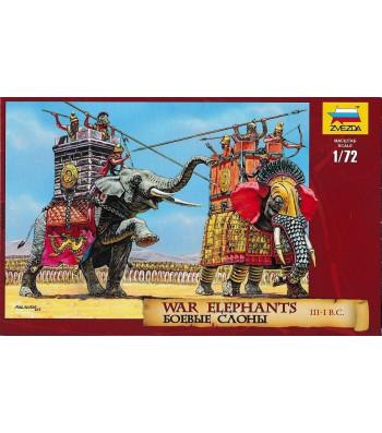 1:72 War elephants III-I B.C. - 7 human, 2 elephant figures