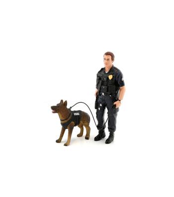 FIGURINES - POLICE OFFICER AND K9 DOG - UNIT I
