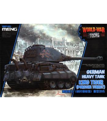 German Heavy Tank King Tiger (Porsche Turret) (cartoon model) - snap-fit