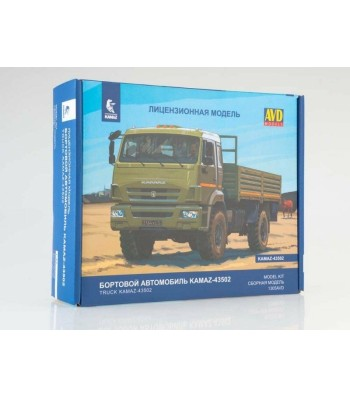 KAMAZ-43502 flatbed truck (facelift) - Die-cast Model Kit