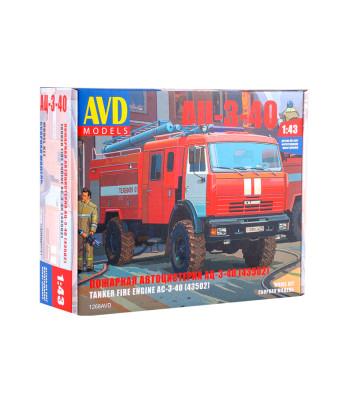 Fire Engine AC-3-40 (KAMAZ-43502) - Die-cast Model Kit