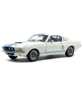 FORD MUSTANG GT500 WHITE BLUE STRIPES  1967