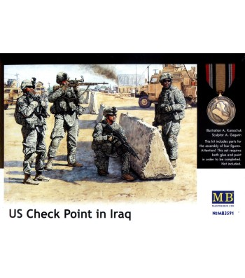 1:35 US Check Point in Iraq - 4 figures