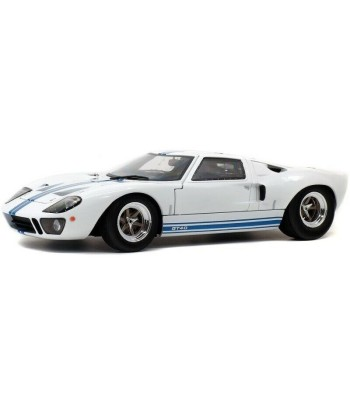 FORD GT40 MK1 - WHITE / BLUE STRIPES - 1968