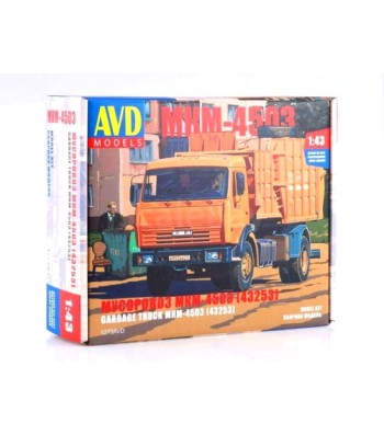 Garbage Truck MKM-4503 (KAMAZ-43253) - Die-cast Model Kit