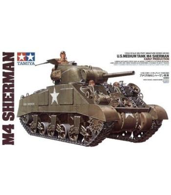 1:35 U.S. Medium Tank M4 Sherman - Early Production - 3 figures