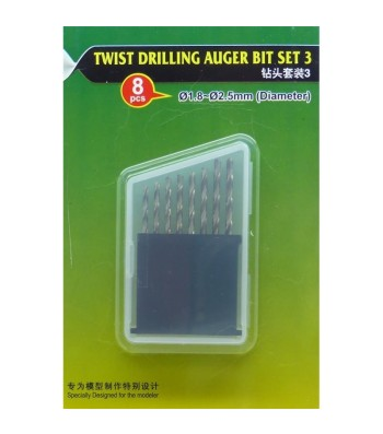 Twist Drilling Auger Bit set (#3 1.8-2.5 mm)