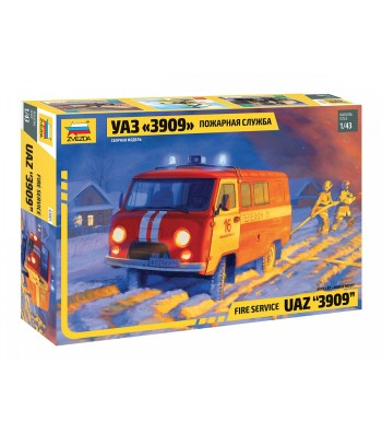 1:43 UAZ 3909 FIREFIGHTER CAR