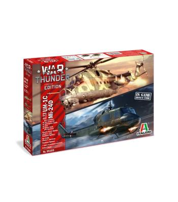 1:72 War Thunder: MIL Mi-24D/UH-1B - Two model kit