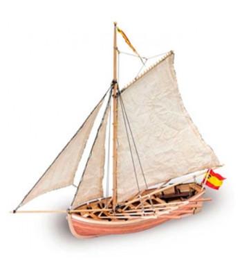 1:25 San Juan Nepomuceno's Cutter - Wooden Model Ship Kit