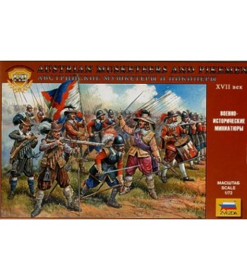 1:72 Austrian musketeers and pikemen 16-17th c. - 45 figures