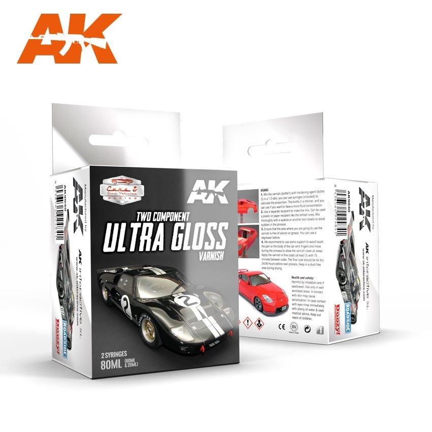 AK9040 ULTRA GLOSS VARNISH - Cars & Vehicles Paint Set (60