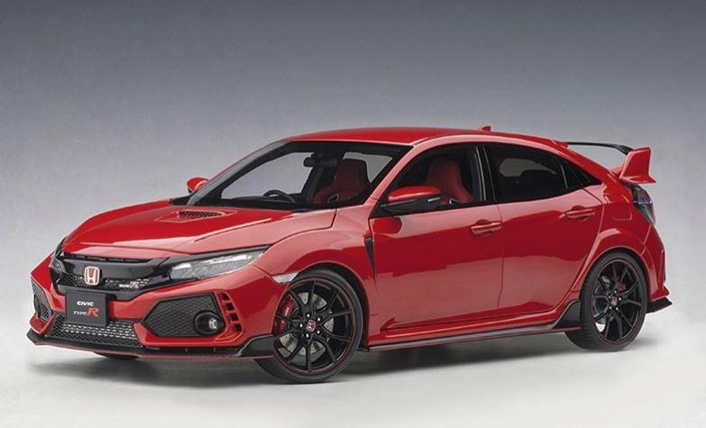 2017 Neu FK 8 flame red AUTOart 73268-1//18 Honda Civic Type R