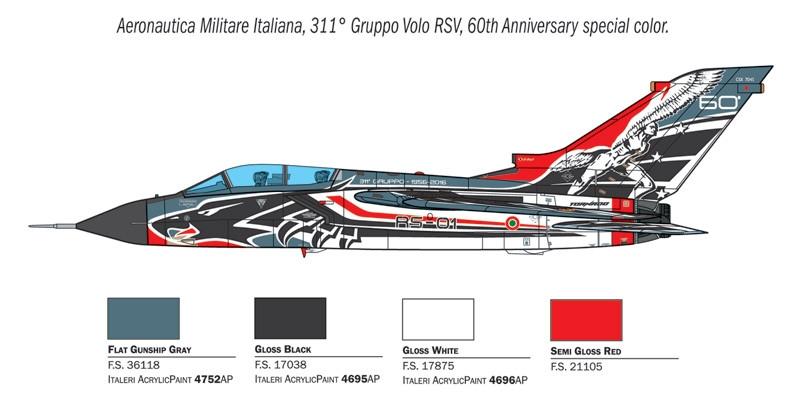 Prod Tornado Ids 60 Anniversary 311 Gv Rsv New 1:100 Model ITALERI