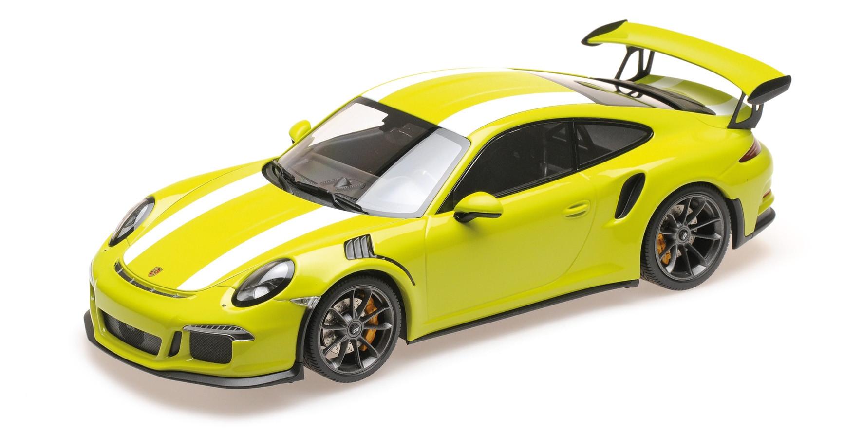 PORSCHE 911 GT3 RS (991) – 2015 – LICHTGRÜN W/WHITE STRIPE L E  222 pcs