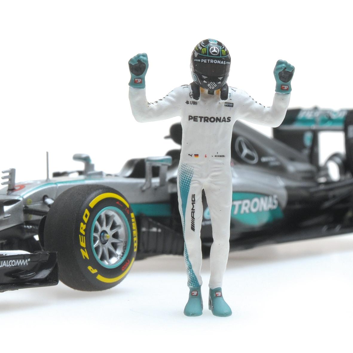 Minichamps 410161006 Mercedes AMG Petronas F1 W07 Rosberg 2016 1:43 NEU OVP