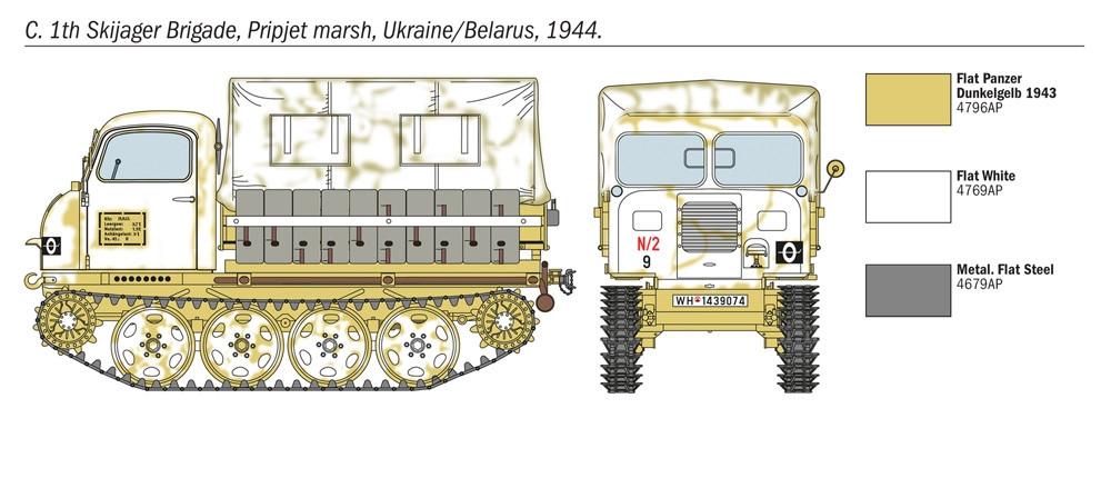Italeri 6549 1//35 Scale Military Model Kit WWII German Steyr RSO//01 w//7 Soldiers