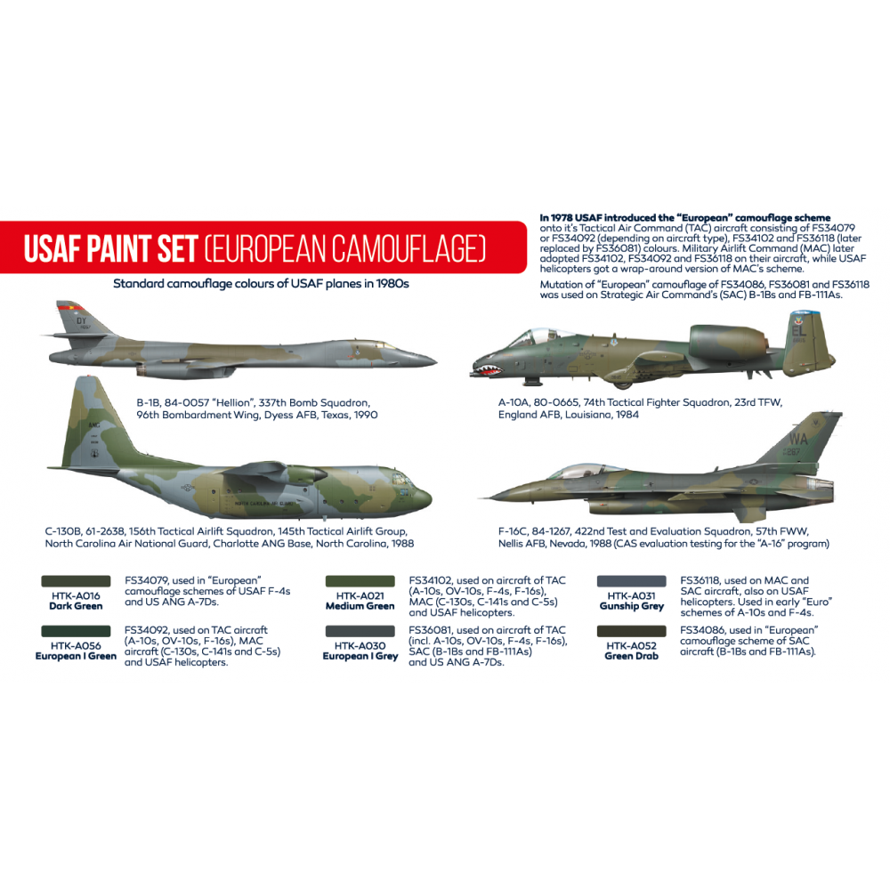 HTK-AS10 USAF Paint Set (