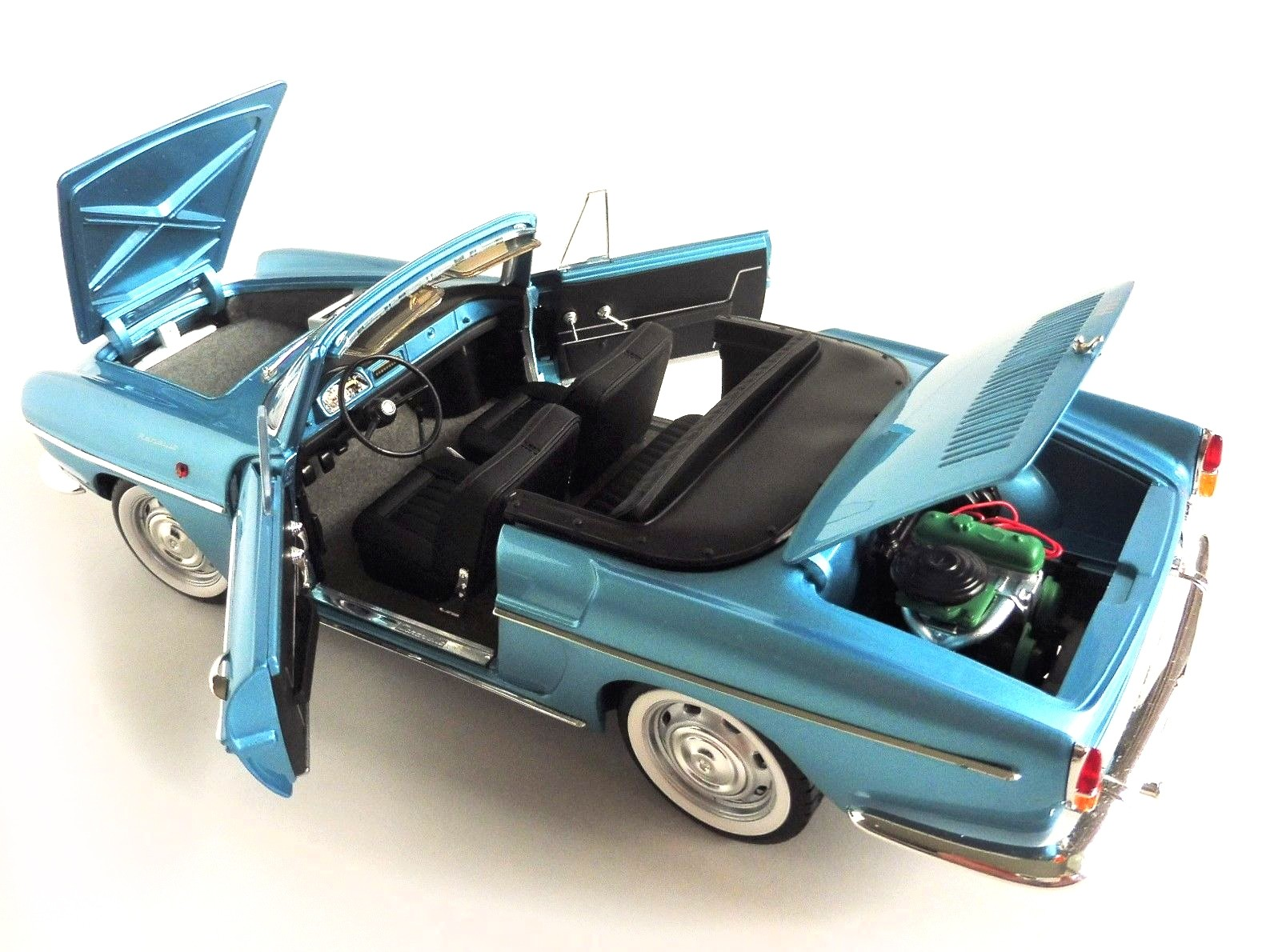 1964 RENAULT CARAVELLE FINLANDE BLUE MET 1//18 DIECAST CAR MODEL BY NOREV 185151
