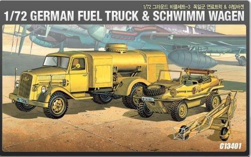 German Fuel Truck EDW Tankwagen /& Schwimmwagen 1:72 Plastic Model Kit ACADEMY