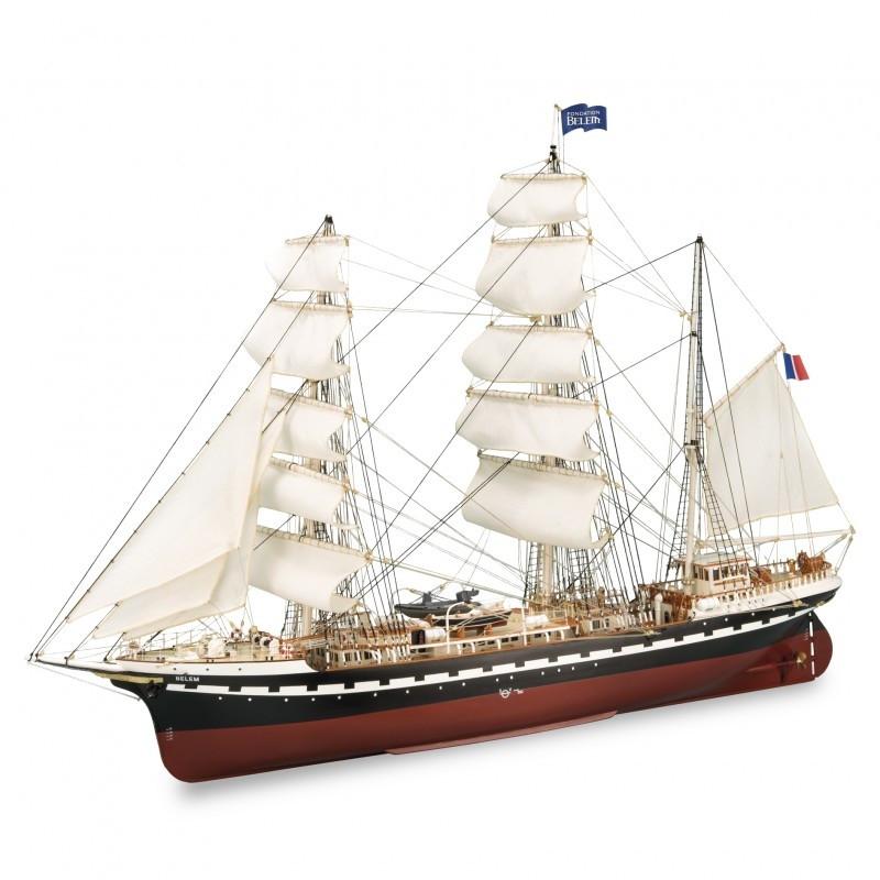 1 75 French Training Ship Belem Wooden Model Ship Kit