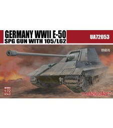 1:72 Germany WWII E-50 SPG GUN with 105/L62