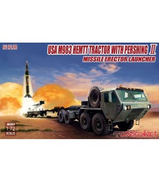 1:72 USA M983 HEMTT Tractor with Pershing II Missile Erector Launcher