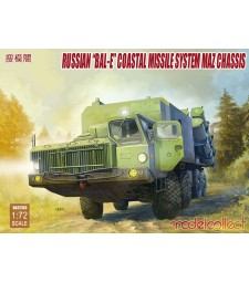 "1:72 Russian ""Bal-E"" mobile coastal defense missile Launcher with Kh-35 anti-ship cruise missiles MAZ chassis early type"