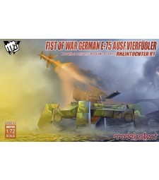 1:72 Fist of War German WWII E75 Ausf.vierfubler Rheintochter 1