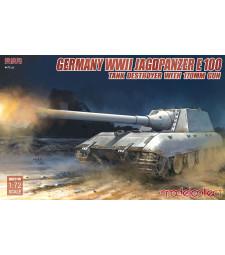 1:72 German WWII Jagdpanzer E-100 Tank Destroyer with 170mm Gun